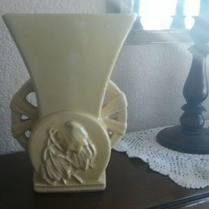 """Yellow Art Deco Vintage """"Mcoy"""" Vase"""